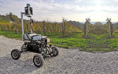We are completing autonomous navigation in the vineyard using a visual system