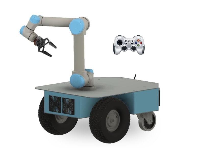 Caster teleoperator robot