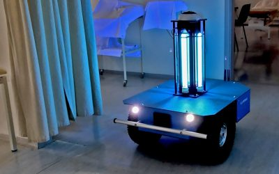 Caster mobile robot has found application as a UVC disinfection solution
