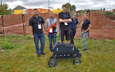 Androver II robot attended the European Rover Challenge