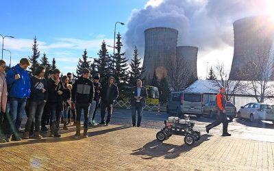 Androver II navštívil jadrovú elektráreň