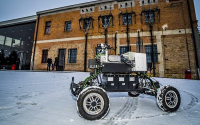 RoboTech Vision prezentovala robot Androver II v elektrárni v Piešťanoch