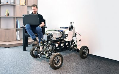 Prvý test robota Androver II bol úspešný